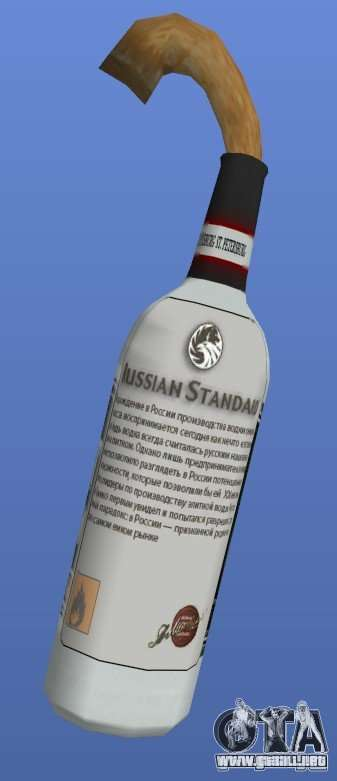 Russian Standard Vodka Molotov para GTA 4 segundos de pantalla