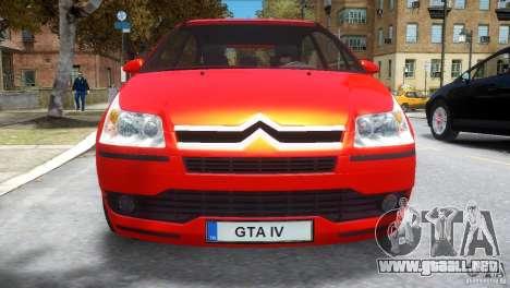 Citroen C4 para GTA 4 vista interior