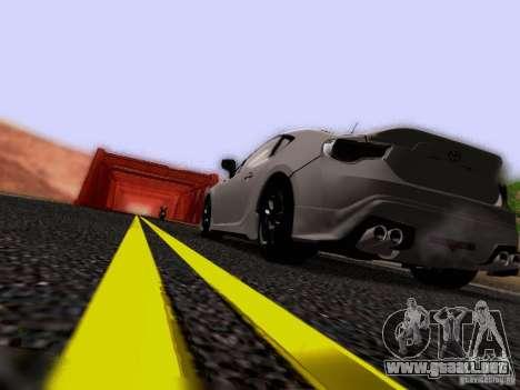 Toyota 86 TRDPerformanceLine 2012 para vista inferior GTA San Andreas
