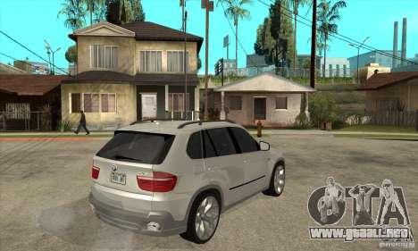 BMW X5 E70 Tuned para la visión correcta GTA San Andreas