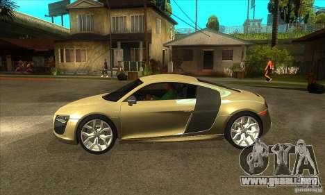 Audi R8 V10 5.2 FSI Quattro para GTA San Andreas left