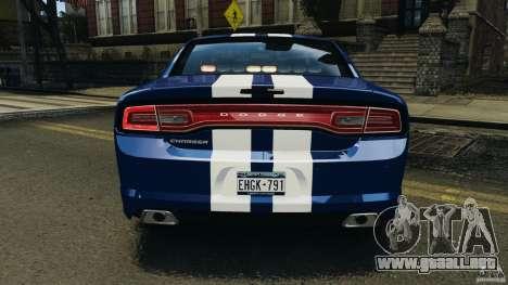 Dodge Charger Unmarked Police 2012 [ELS] para GTA 4 ruedas