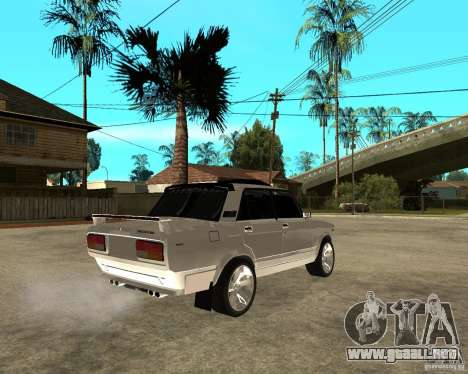 VAZ 2107 luz Tuning v2.0 para GTA San Andreas vista posterior izquierda