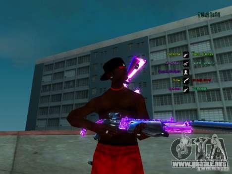 Cromo morado sobre armas para GTA San Andreas tercera pantalla