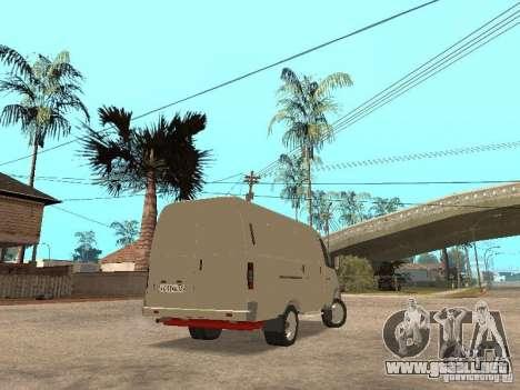 2705 Gacela para GTA San Andreas vista posterior izquierda