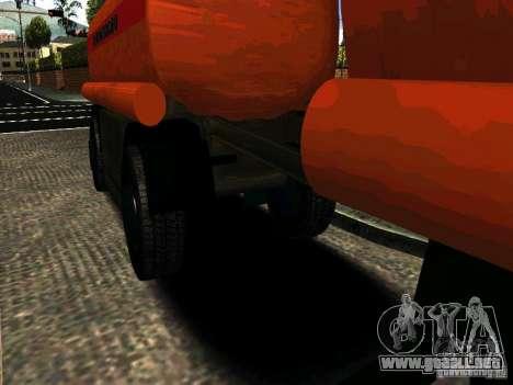 MAZ 533702 camión para GTA San Andreas vista posterior izquierda