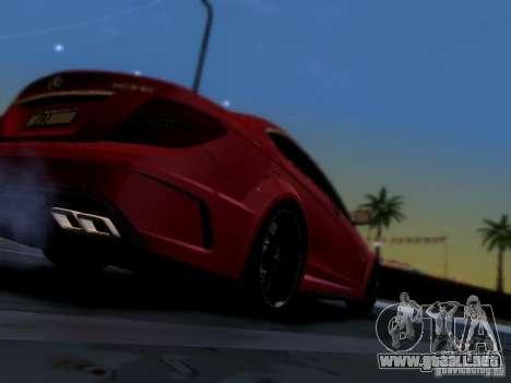 Mercedes Benz C63 AMG C204 Black Series V1.0 para visión interna GTA San Andreas