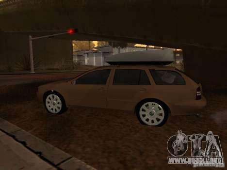 Skoda Octavia para GTA San Andreas vista posterior izquierda