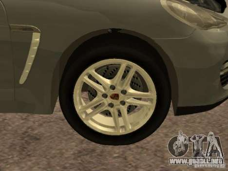 Porsche Panamera Turbo 2010 para visión interna GTA San Andreas
