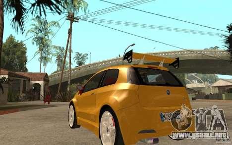 Fiat Grande Punto Tuning para GTA San Andreas vista posterior izquierda