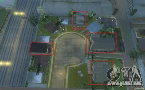 Cuatro casas nuevas en Grove Street para GTA San Andreas quinta pantalla