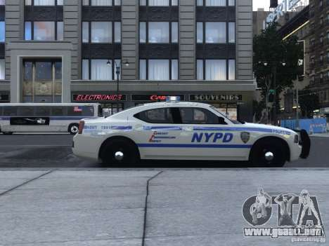 Dodge Charger NYPD para GTA 4 Vista posterior izquierda