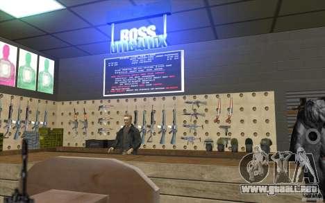 Tienda de armas e. k. S. T. A. L. R para GTA San Andreas tercera pantalla