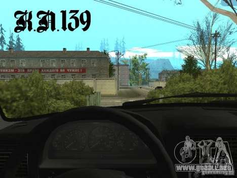 GAZ 3110 beta 0.1 para GTA San Andreas vista posterior izquierda