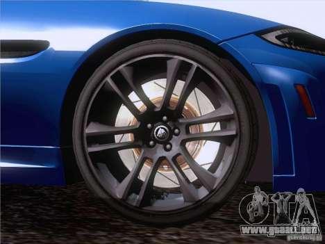 Jaguar XKR-S 2011 V2.0 para la vista superior GTA San Andreas