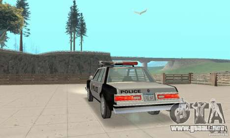 Dodge Diplomat 1985 Police para GTA San Andreas left