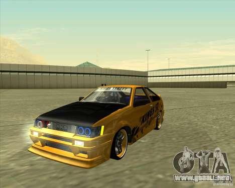 Toyota AE86 Levin para GTA San Andreas