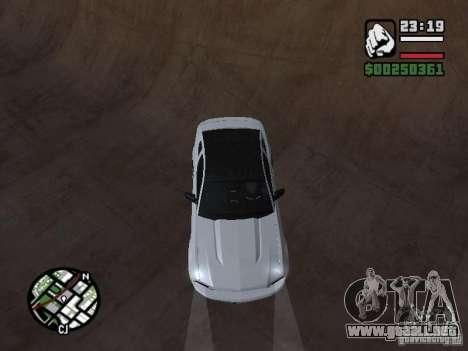 Ford Mustang GT B&W para GTA San Andreas vista hacia atrás