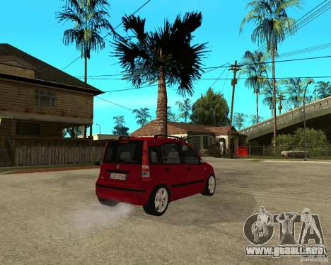 2004 Fiat Panda v.2 para GTA San Andreas vista posterior izquierda