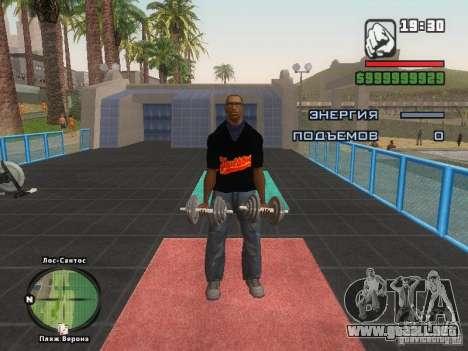 LA camiseta MIZ para GTA San Andreas séptima pantalla