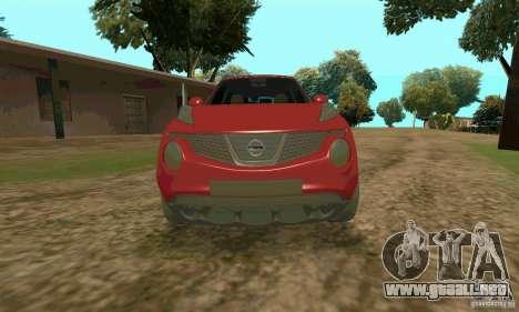 Nissan Juke para la visión correcta GTA San Andreas