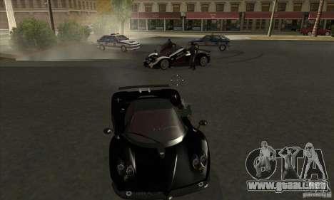 Pagani Zonda F Speed Enforcer BETA para visión interna GTA San Andreas