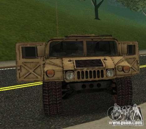 Sand Patriot HD para GTA San Andreas vista posterior izquierda
