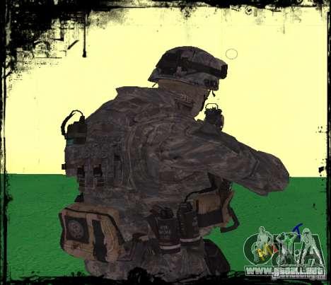 Soldado de infantería de Estados Unidos para GTA San Andreas segunda pantalla