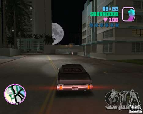Nuevo sable para GTA Vice City vista lateral izquierdo
