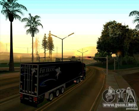Remolque para el Scania R620 Pimped para GTA San Andreas vista posterior izquierda
