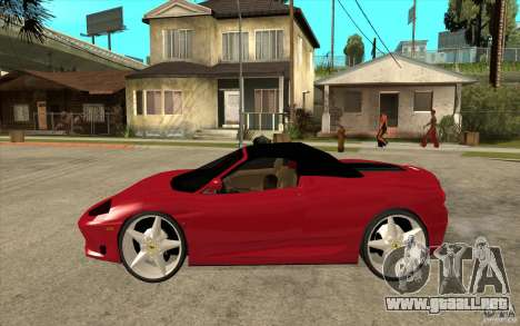 Ferrari 360 Spider para GTA San Andreas left