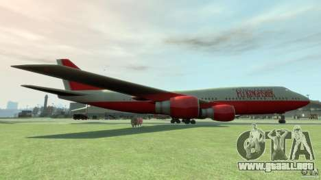 Fly Kingfisher Airplanes witout logo para GTA 4 left