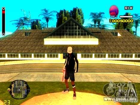 Piel vago v8 para GTA San Andreas sucesivamente de pantalla