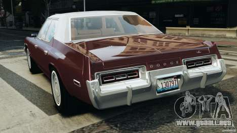 Dodge Monaco 1974 v1.0 para GTA 4 Vista posterior izquierda
