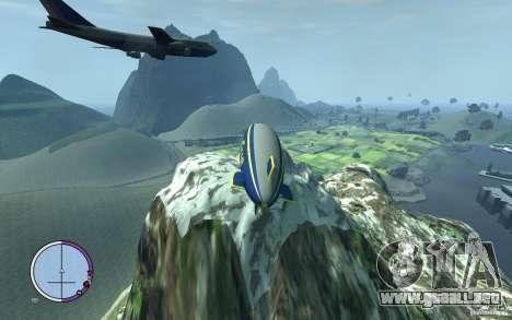 Dirigible para GTA 4 vista hacia atrás