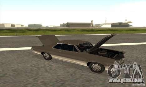 Pontiac GT-100 para GTA San Andreas vista hacia atrás