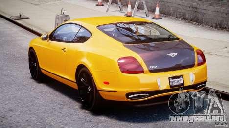 Bentley Continental SS 2010 ASI Gold [EPM] para GTA 4 vista lateral