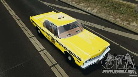 Dodge Monaco 1974 Taxi v1.0 para GTA motor 4