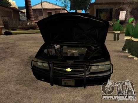 Chevrolet Impala Undercover para la visión correcta GTA San Andreas