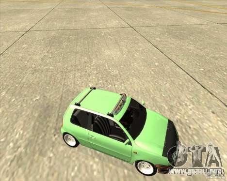 Volkswagen Lupo Hellaflush para vista lateral GTA San Andreas