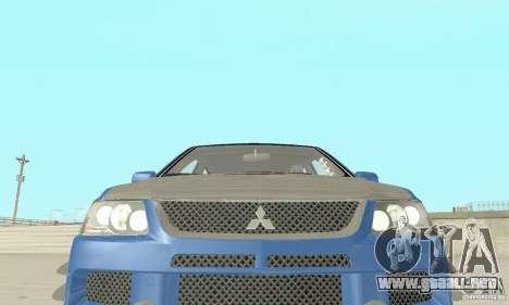 Mitsubishi Lancer Evolution IX Wagon MR Drift para vista lateral GTA San Andreas