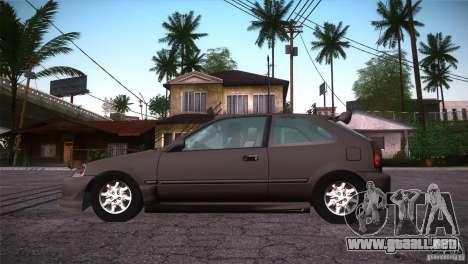 Honda Civic Tuneable para la vista superior GTA San Andreas
