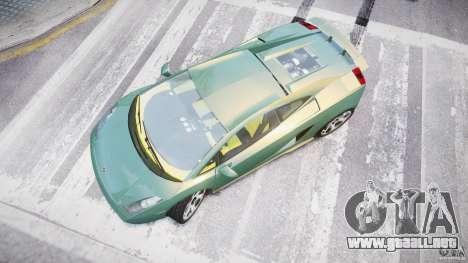Lamborghini Gallardo para GTA 4 visión correcta