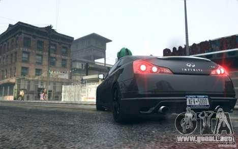Infiniti G37 Coupe Carbon Edition v1.0 para GTA 4 visión correcta