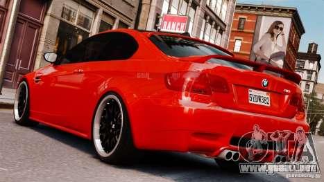 BMW M3 E92 2009 HAMANN para GTA 4 left