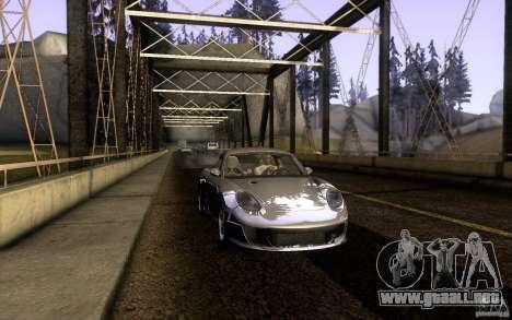 Ruf RK Coupe V1.0 2006 para GTA San Andreas vista posterior izquierda