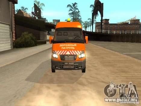 Patrulla gacela 2705 para GTA San Andreas vista posterior izquierda