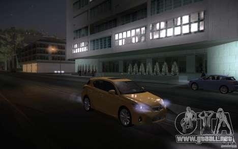 Lexus CT200H 2011 para visión interna GTA San Andreas