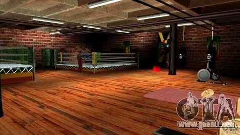 Gimnasio para GTA San Andreas segunda pantalla