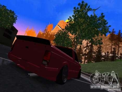 GMC Syclone Drift para GTA San Andreas vista posterior izquierda